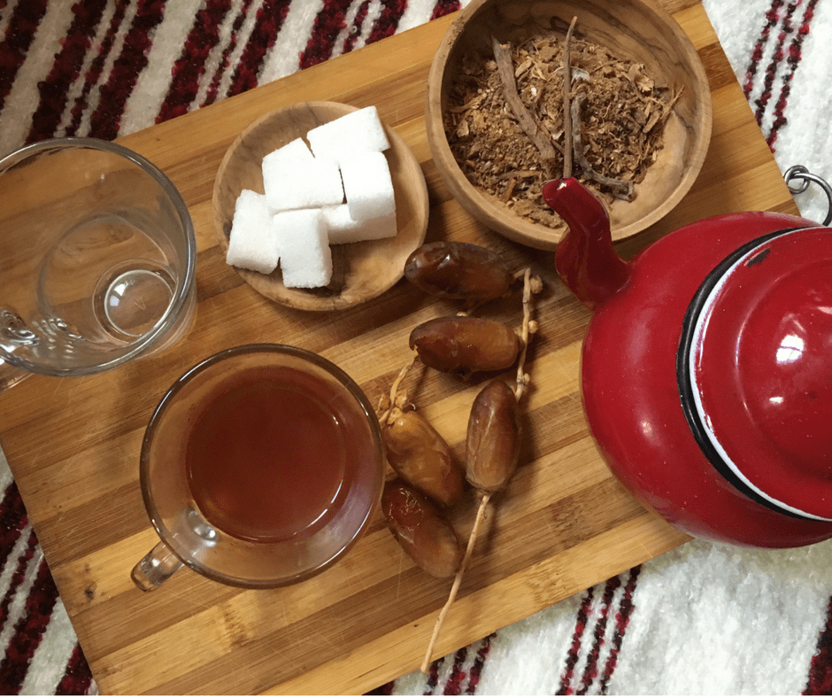 Making Moroccan Spiced Winter Tea