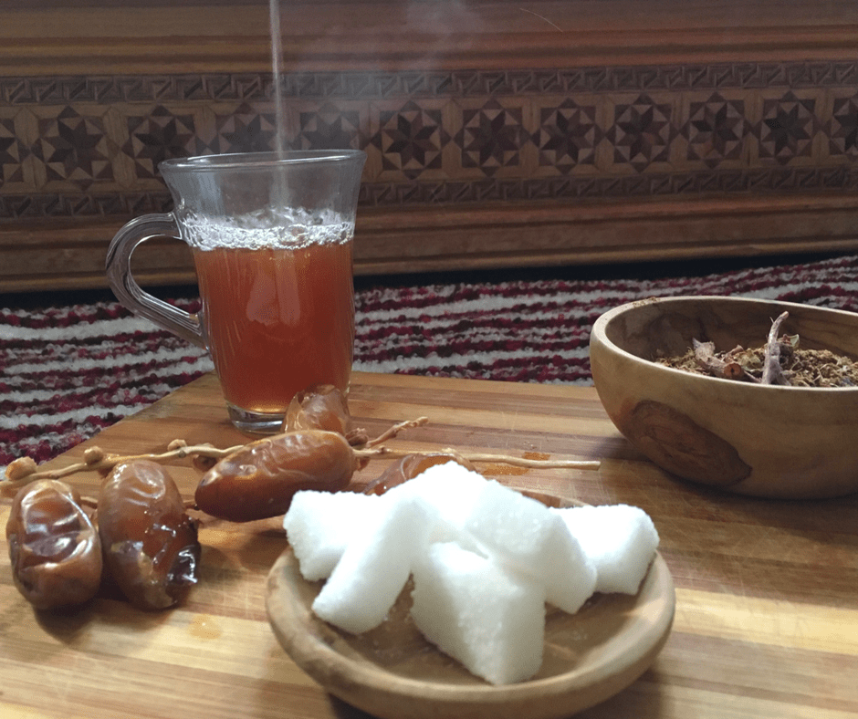 Moroccan Spiced Khunjul Tea