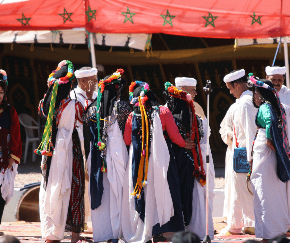 Traditional performances at the rose festival in Morocco