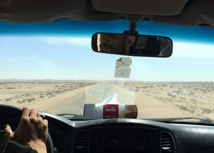 Driving in the Sahara