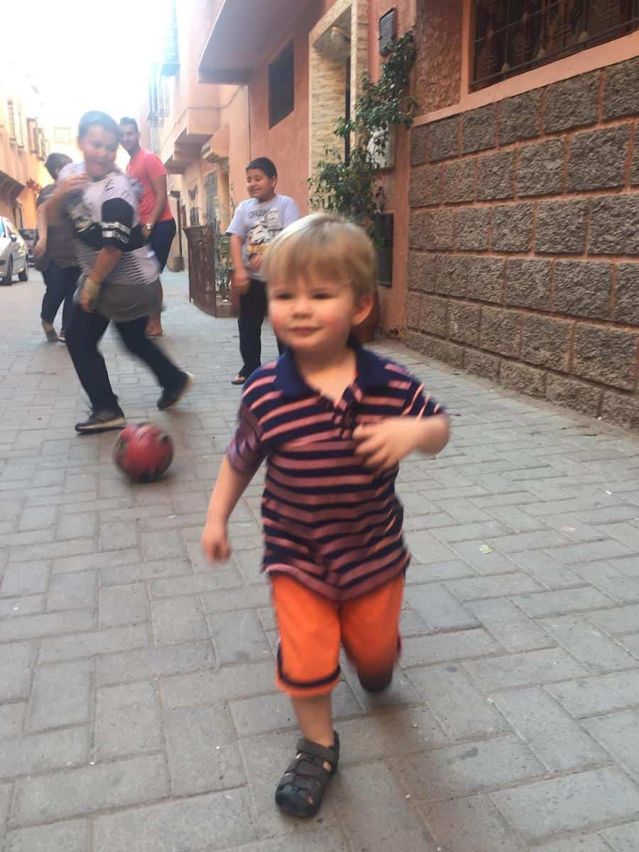 Morocco with Toddler_Neighborhood Soccer