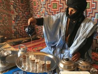 Saharawi Tea Ceremony in Western Sahara