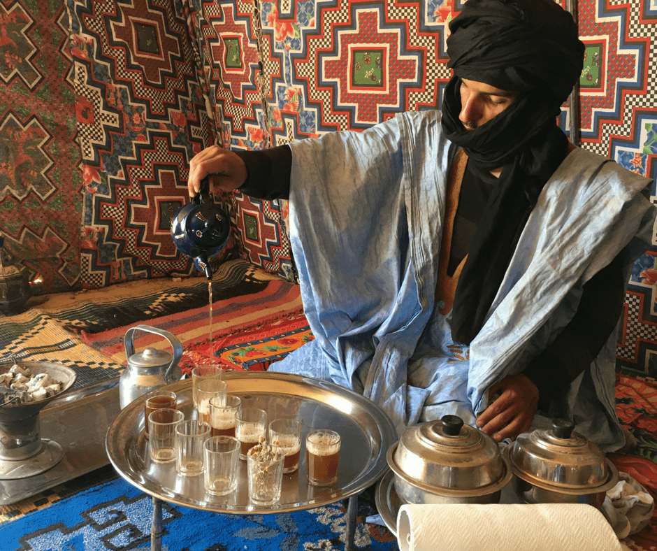Saharawi Tea Ceremony in Western Sahara