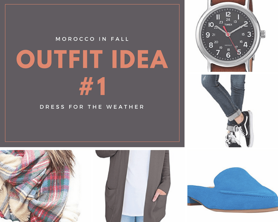 What to wear in Morocco in Fall Outfit Ideas