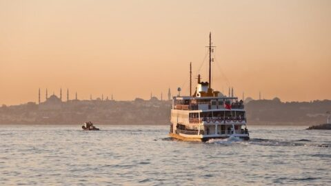 Ferry on the Bosporous Istanbul