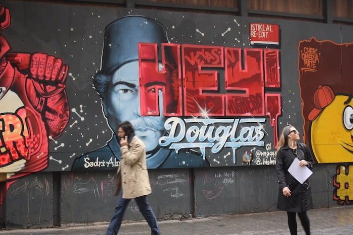 Street art in Istiklal Istanbul
