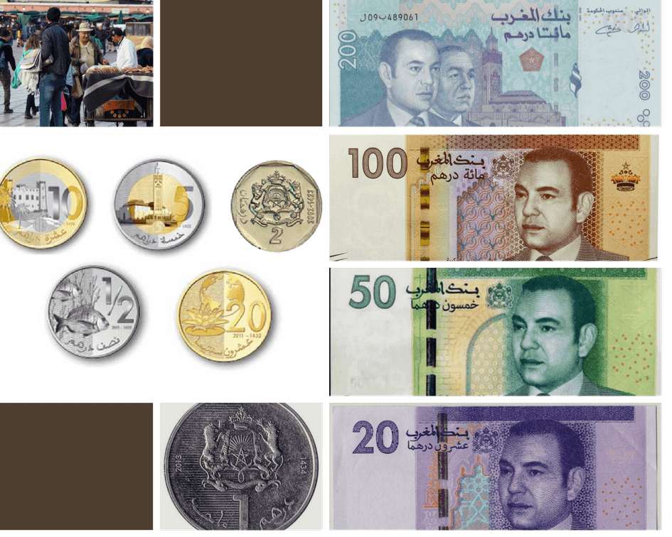 Each Of The Bills Is A Diffe Color And Some Are Sizes 50 Dirham Bill 20 Smaller Than 100 200