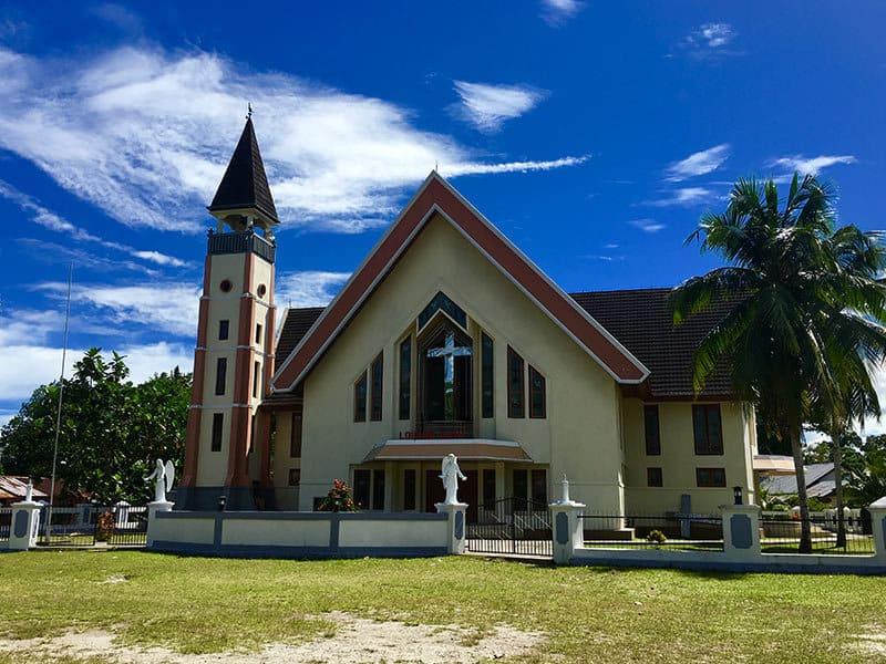 Louhata Damai Church on Saparua Island