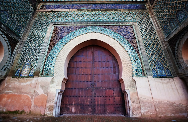Medina door in Meknes Morocco