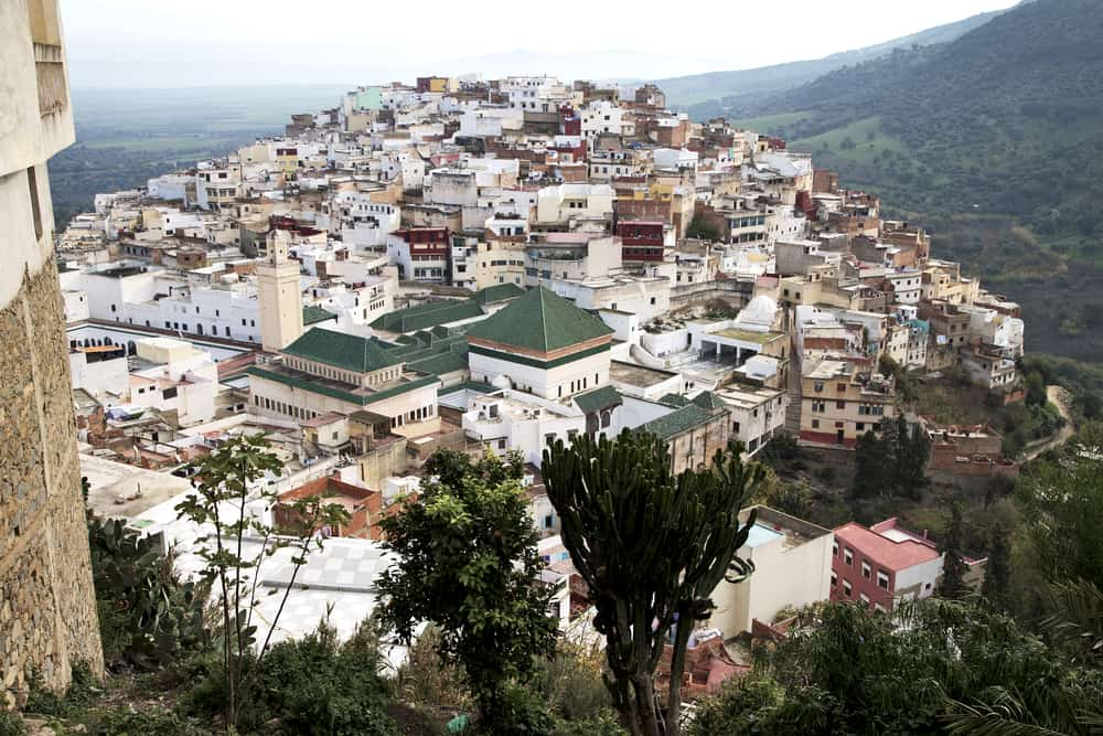 The holy city of Moulay Idriss Morocco