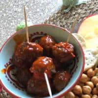 Honey Harissa Glazed Meatballs