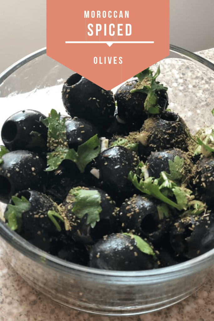 How to make Moroccan spiced olives - a perfect idea for an olive board.