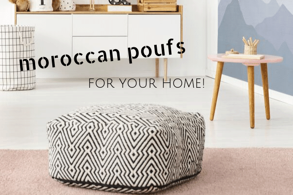 Magnificent Moroccan Poufs To Add A Pop Of Morocco To Your Home Marocmama Lamtechconsult Wood Chair Design Ideas Lamtechconsultcom