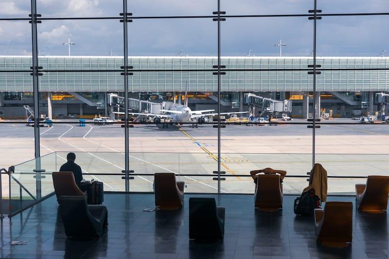 Window of Charles de Gaulle Airport in Paris