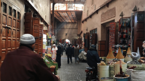 Riads in the Marrakech Mellah area