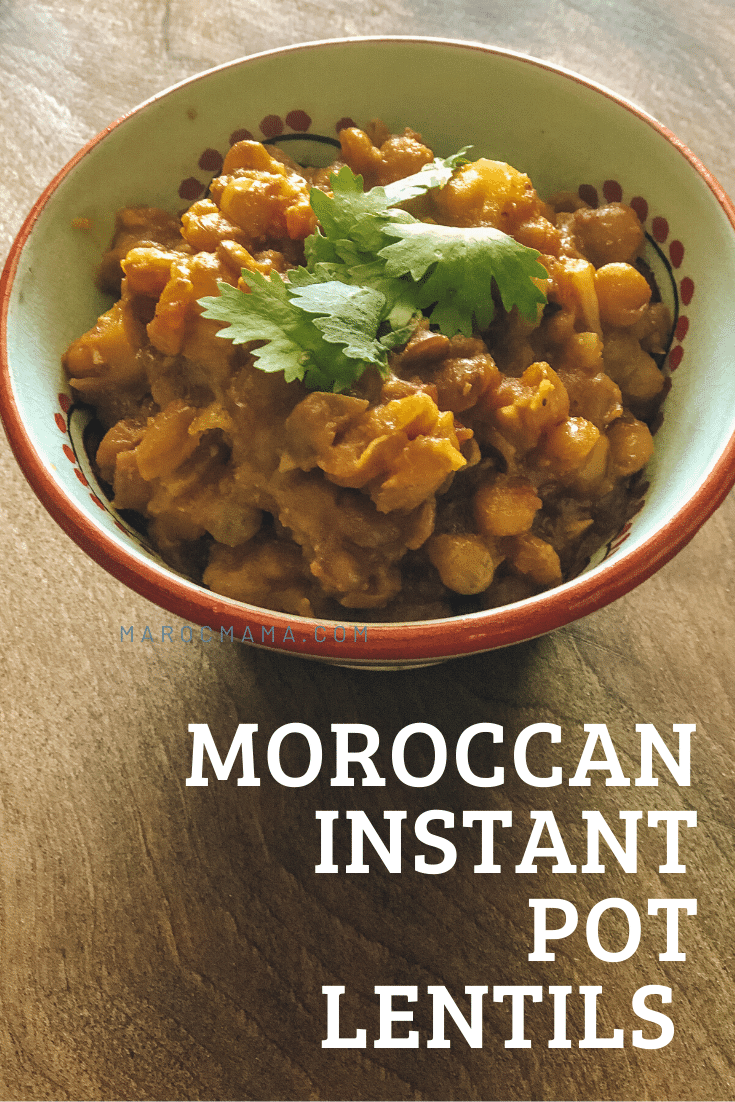 Moroccan lentils are easy to make with basic ingredients. The use of an instant pot makes it even quicker.