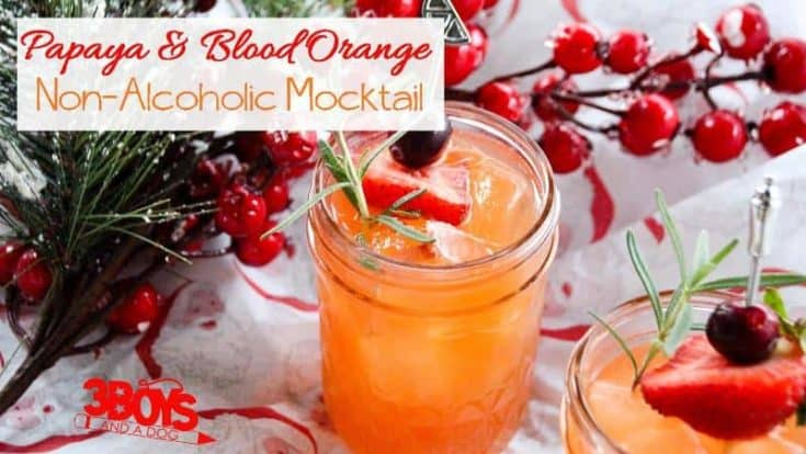 Papaya and Blood Orange Mocktail Recipe