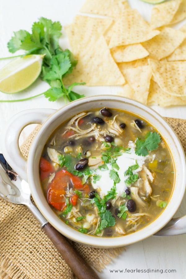 Easy Taco Chicken Soup Recipe