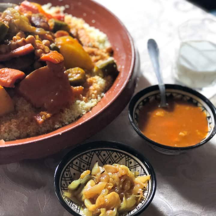 Moroccan Seven Vegetable Couscous