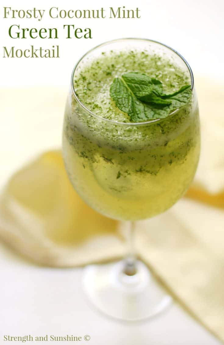 Frosty Coconut Mint Green Tea Mocktail