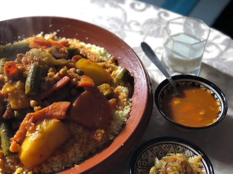 Moroccan Seven Vegetable Couscous