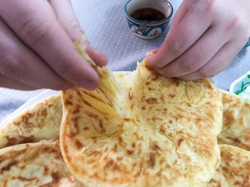 Flaky, Msemmen Batbout Bread