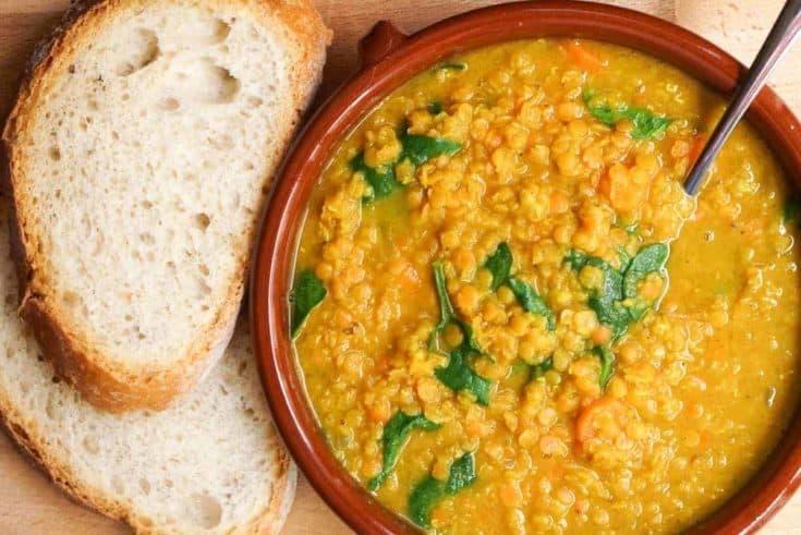 Golden Turmeric Lentil Soup Recipe