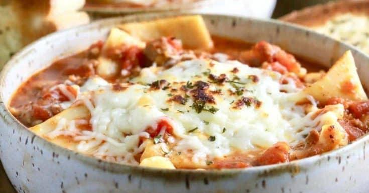 One-Pot Lasagna Soup