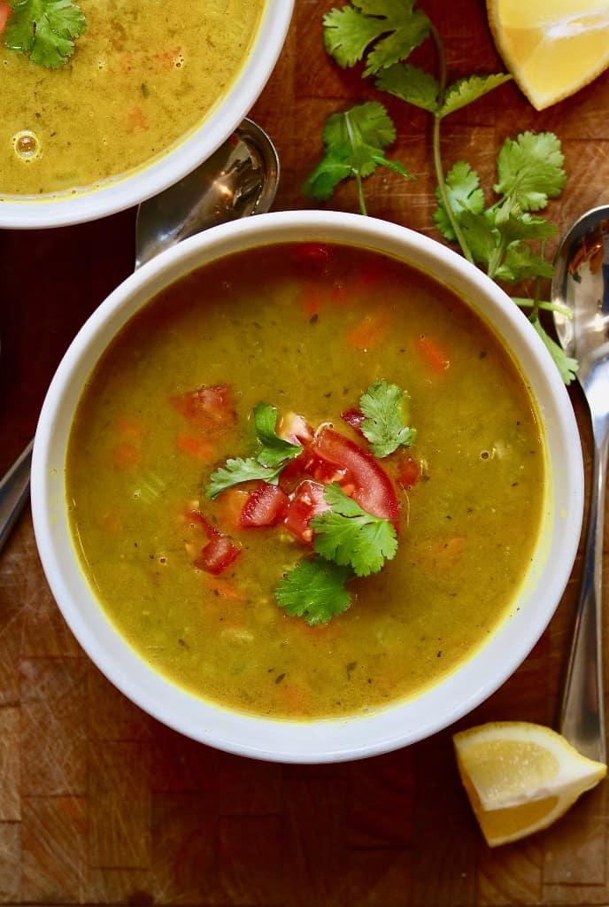 Indian Mulligatawny Soup (Vegan)