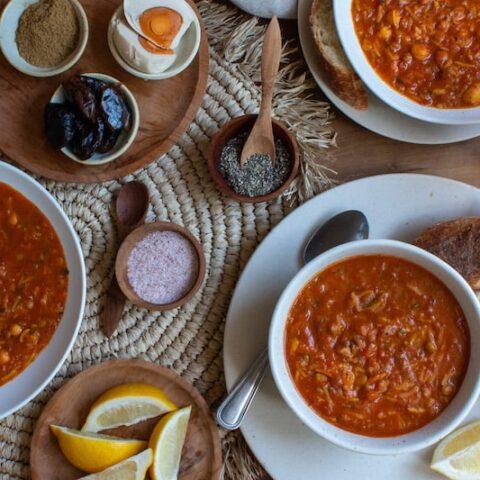 Moroccan Vegetarian Harira