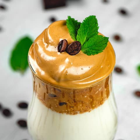 Mint Chocolate Whipped Iced Coffee