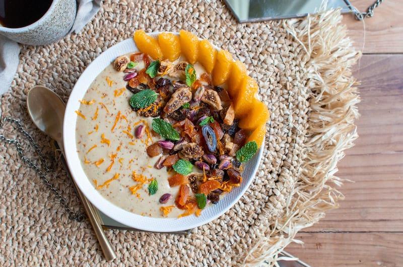Moroccan Orange Banana Smoothie Bowl