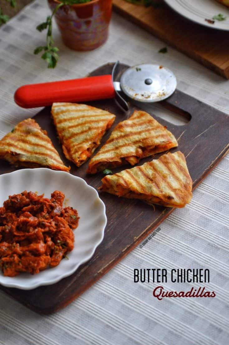 Butter Chicken Quesadillas