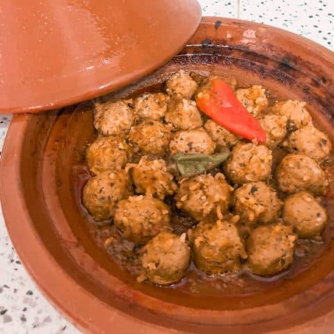 Moroccan Sardine Meatball Tajine