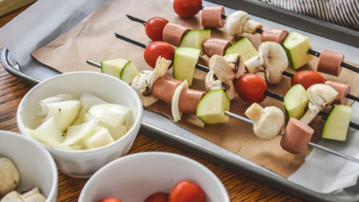 Moroccan Inspired Hot Dog Kebabs