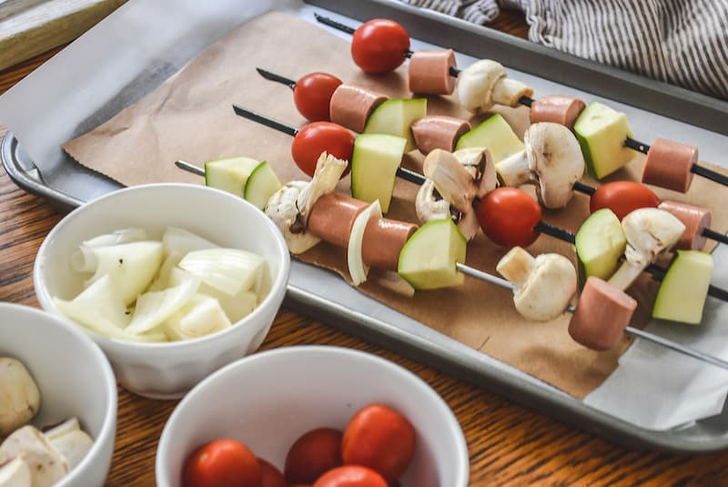 Moroccan Inspired Hot Dog Kebabs
