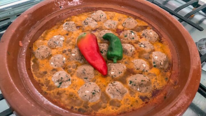 Simple Sardine Meatball Tajine in Tomato Sauce