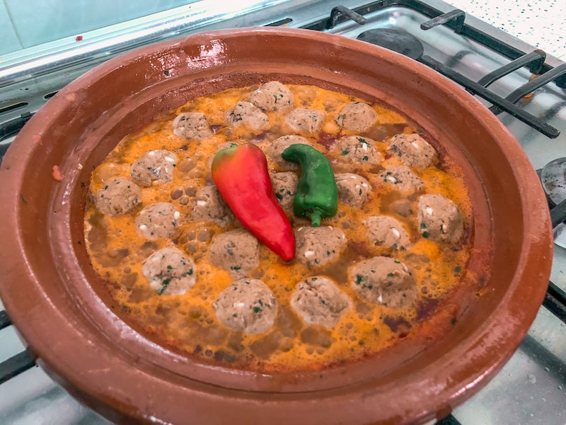Simple Sardine Meatball Tajine in Tomato Sauce