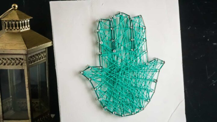 DIY Khamsa String Art Craft for Your Home