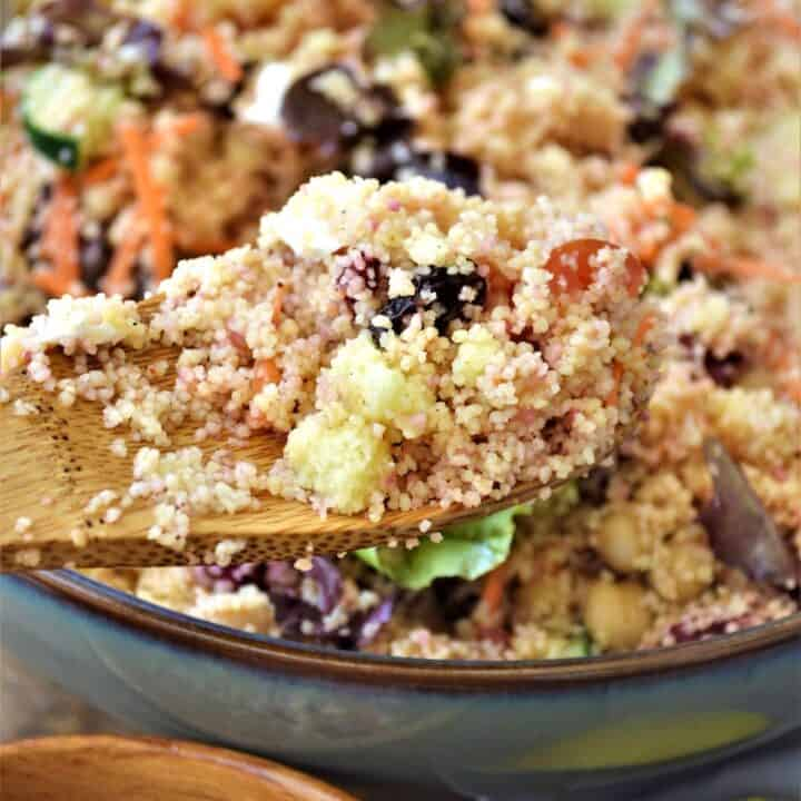 Moroccan Inspired Cold Couscous Salad