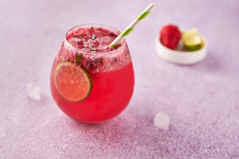 Strawberry Mint Alcohol Free Cocktail