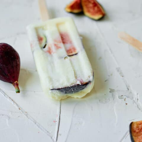 Fresh Fig and Ricotta Popsicle