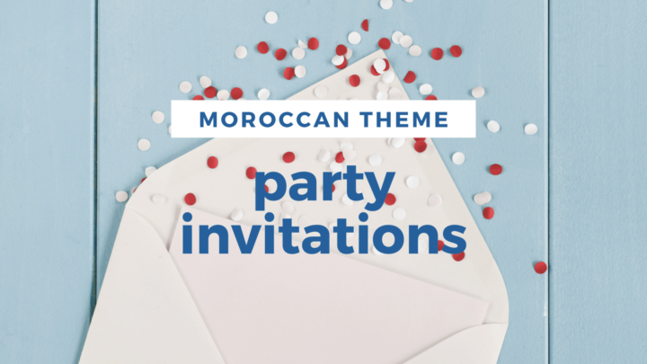 Moroccan Themed Invitations for Your Parties
