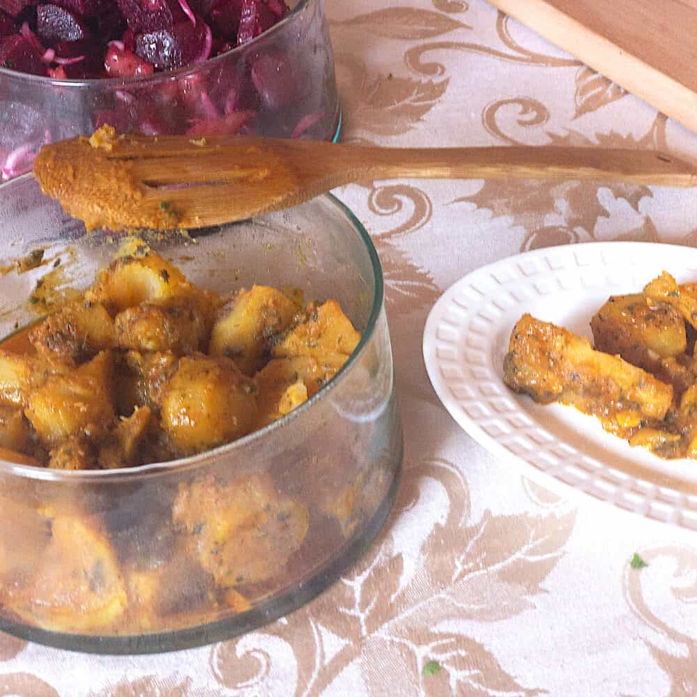 Sweet Potato and Saffron Salad with Cinnamon