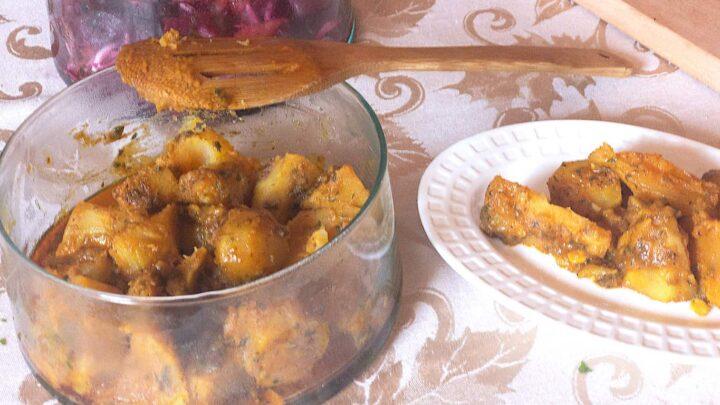 Sweet Potato and Saffron Salad with Cinnamon