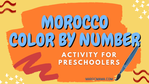 3 FREE Morocco Color by Number Activity Pages for Preschoolers