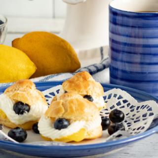 Lemon Blueberry Cream Puffs