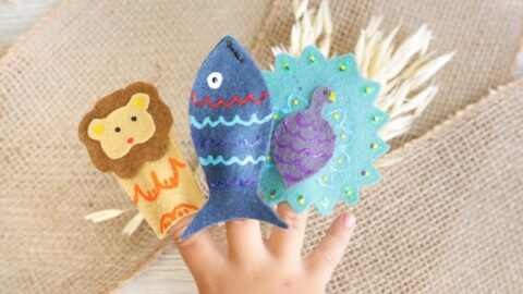 No-Sew Moroccan Animal Finger Puppets