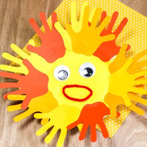 Hand Print Moroccan Sun Project